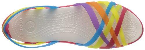 Crocs Huarache Flat Women, Ballerine Donna Multicolore (Multi/Geranium)