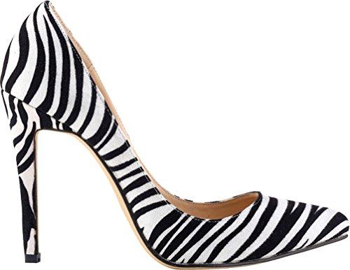 CFP ,  Damen Durchgängies Plateau Sandalen mit Keilabsatz Zebra