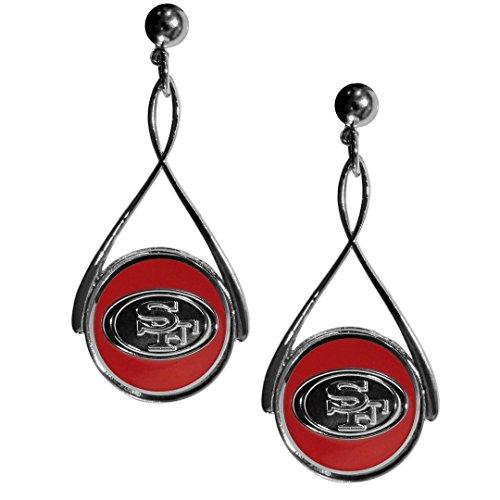 Siskiyou NFL Damen-Ohrringe Tropfenform, Damen, FTDE075, rot, 2