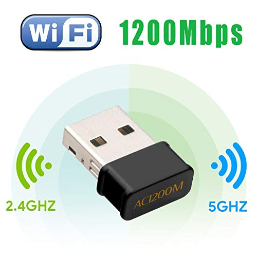 Maxesla WLAN Adapter 1200Mbps Mini WLAN USB