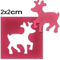 Vaessen Creative Perforadora Reno Pequeño, Metal, Plástico, Multicolor, 6.5x4.5x4.4 cm