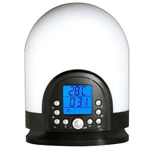 Clip Sonic AR291 Radio Réveil avec Lampe d'ambiance Tuner FM