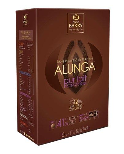 Chocolat de couverture lait Alunga en pistoles 5 kg (41% cacao Barry)