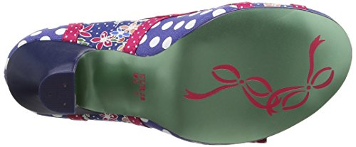 Poetic Licence by Irregular Choice Shake It, Escarpins femme Multicolour (Blue/Red)