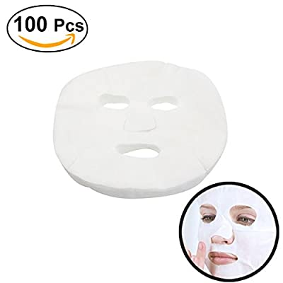 Frcolor 100pcs Disposable Facial Mask White Cosmetic Enlarged Cotton Facial Mask Sheet from Frcolor