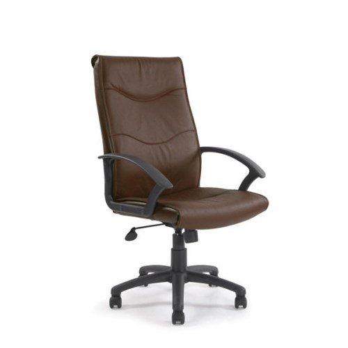 Schienale alto, in pelle (Sedile In Pelle Task Chair)