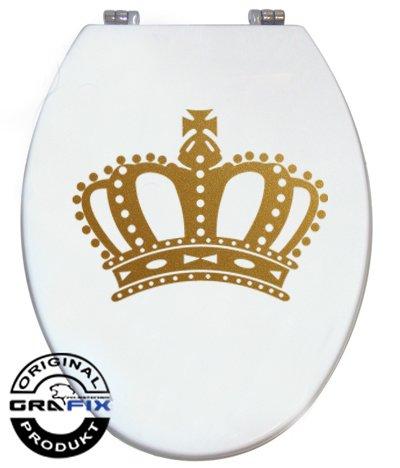 Aufkleber GOLD Krone für Pressalit WC Toiletten Deckel