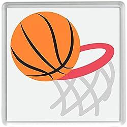 y aro de baloncesto Emoji 58mm x 58mm nevera Imán / Basketball And Hoop Emoji 58mm x 58mm Fridge Magnet