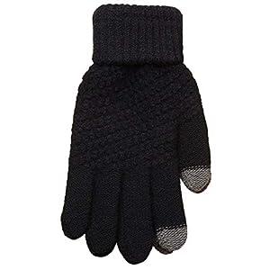 RFGHATG Warme Fingerhandschuhe für Damen und Herren Vollfingerhandschuhe Häkelhandschuhe für Damen Verdickt