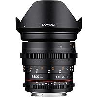 Samyang 20/1,9 Objektiv Video DSLR Canon EF manueller Fokus Videoobjektiv 0,8 Zahnkranz Gear, Weitwinkelobjektiv schwarz