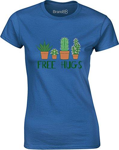 Brand88 - Free Hugs, Gedruckt Frauen T-Shirt Königsblau