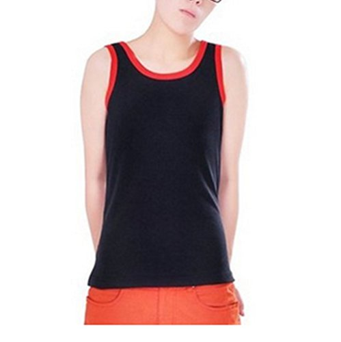 breathable-womens-les-lesbian-tomboy-short-chest-binder-vest-tank-tops-m-black