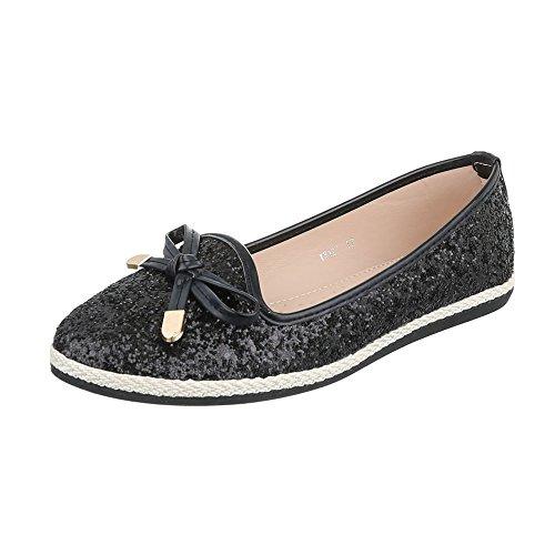 Ital-design - Zapatos Negros Cerrados Para Mujer
