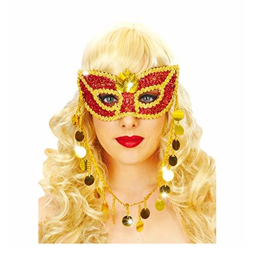 P-WH rote, sexy Pailletten-Maske, Halloween, goldene Blatt-Dekoration, Kostüm, Party, Maskerade