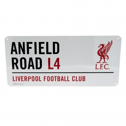 Oficial Liverpool Anfield Road L4Placa Metal Nombre