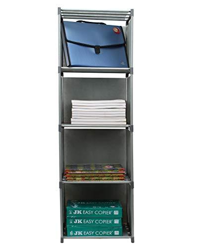MemeHo® Simple Bookshelf/Multipurpose Rack/Children Bookcases/File Rack for Office/Storage Organizer/Cabinet Shelves for Bedroom Office Living Room (Color_Grey, 4 Cases)