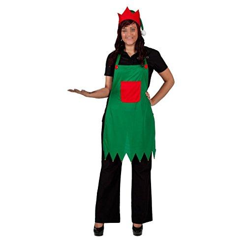 QHGstore Elf Schürze & Hut Set Adult Elf Kostüm für Weihnachtsfeier Abendkleid Outfits Geburt Christi