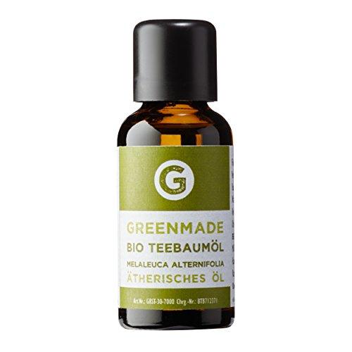 Bio Teebaumöl 30ml - 100% reines Öl (kbA) von greenmade