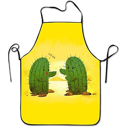 Bee Brown Schürzen Umarmungs-Kaktus, der Chef Kitchen mit justierbarem Schellfisch-Schwarzem kocht (Lebkuchen Mann Kostüme)