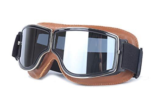 Daesar Outdoor Brille Herren Brille Winddicht Radsport Schutzbrille Winddicht Outdoor Braun Silber