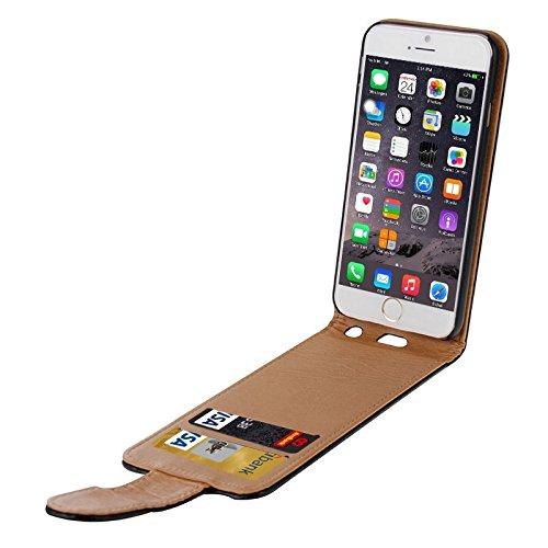 Wkae Case & Cover Pour iPhone 6 Plus &6s plus Litchi Texture Vertical Flip en cuir avec fentes de cartes ( Color : White ) White