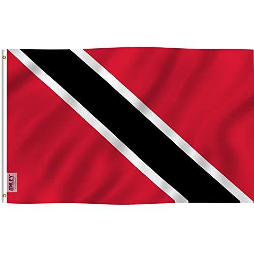 Anley? Fly Breeze 3x5 Fußflagge von Trinidad und Tobago - Lebendige Farbe und UV-beständig - Segeltuchkopf und doppelt genäht - Trinidad & Tobago Flagge Polyester mit Messingösen 3 X 5 Ft