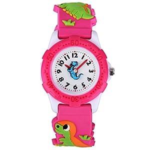 Zeiger Kinderuhr Quarzuhr Mädchen Silikon Armbanduhr