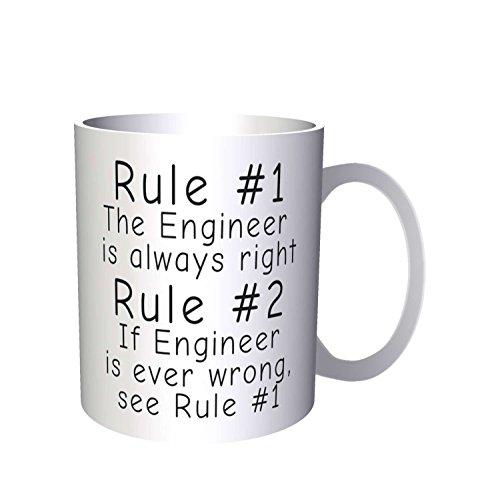 Regel 1 Der Ingenieur hat immer Recht Regel 2 siehe Regel 1 33 cl Tasse (Hats Ingenieur)