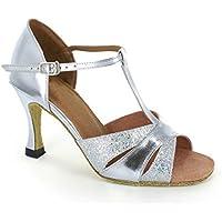 Minitoo T-Strap da donna punta aperta design fashion Satin Scarpe