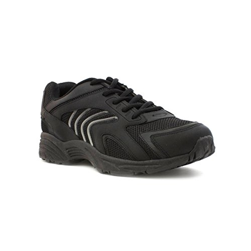 tick-mens-mesh-lace-up-trainer-in-black-size-8-black