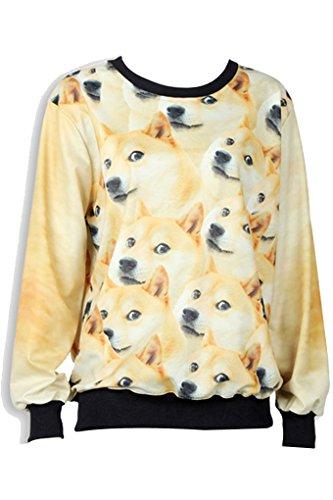 Thenice - Sweat-shirt spécial grossesse - Imprimé Animal - Col Rond - Femme Taille Unique Beak dog