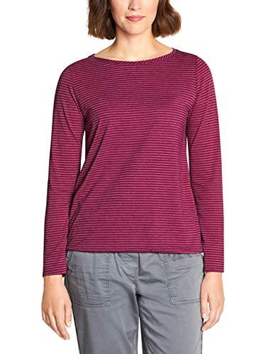 Cecil Damen 313993 Marlena Langarmshirt, Mehrfarbig (Mystic Berry 21795), Large (Herstellergröße:L)