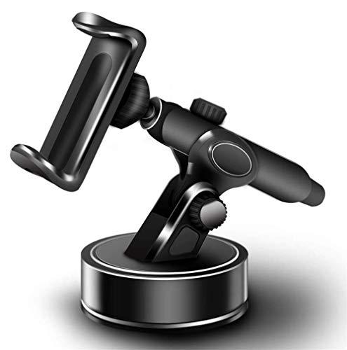 Geabon Soporte teléfono coche, Parabrisas/Salpicadero Soporte Móvil Coche con Ventosa de Gel Fuerte y Brazo Ajustable Giro 360 Grado compatible iPhone X/8/7/6/ Samsung S10/S9/S8/S7 Huawei Xiaomi ect