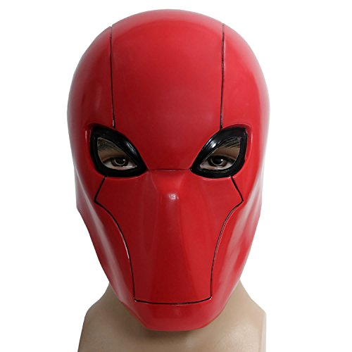 Red Head Hood Maske Cosplay Helme Halloween Cosplay Mask Karnevals Kostüm (Deathstroke Maske)