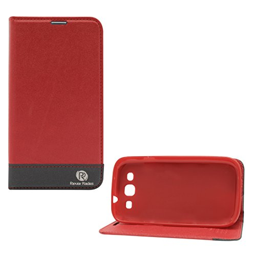 Popular Raiders Magnetic Wallet Flip Folio Stand Book Cover Case For Samsung Galaxy S3 Neo i9301 / S3 i9300 (Red)