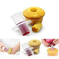 Chianrliu Cupcake Corer, Silicone Plunger Pastry Cupcake Model, Decorating Tools Baking Pastry Accessories (Color 1)