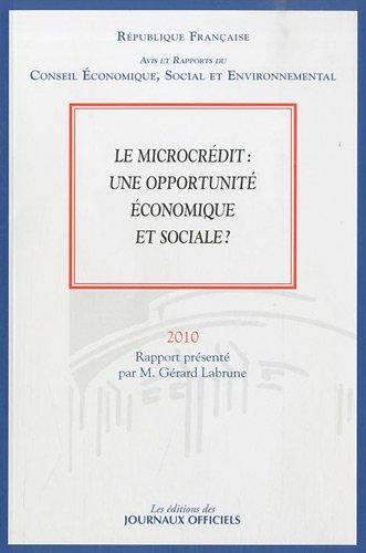 Le microcrédit : une opportunité économique et sociale ? (n.008 - 2010)