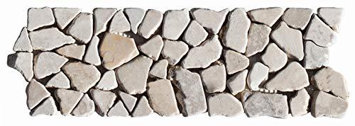 BO-333 Marmor Mosaikfliesen Bordüre Bruchsteinmosaik Naturstein Fliesen Lager Verkauf Stein-mosaik Herne NRW