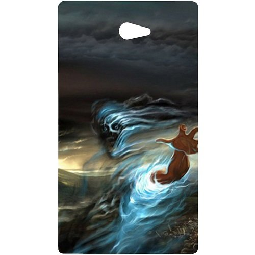 Casotec Ghost In Darkness Design Hard Back Case Cover for Sony Xperia M2  available at amazon for Rs.149