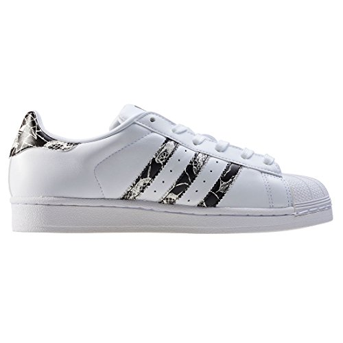 adidas Superstar W, Sneakers Basses Femme Blanc (Ftwwht/cblack/spray)