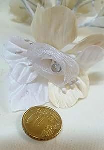 Confezione 36 pezzi-fiori, Bomboniera fiore x segnaposto,SANDY, composizione confetti. (siiaxs28) (BIANCO)