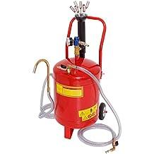 ECD Germany Aspirador de aceite 24 litros Extractor de aceite neumático para motores de vehículos Tanque