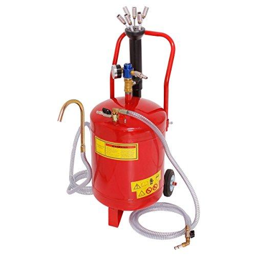 ECD Germany Aspirador de aceite 24 litros Extractor de aceite neumático para motores de vehículos Tanque para succión de aceite