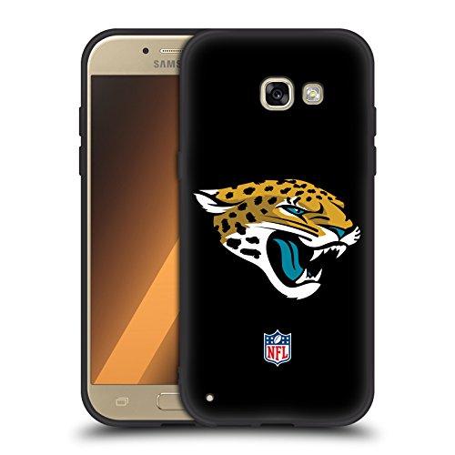 Offizielle NFL Einfarbig Jacksonville Jaguars Logo Skinny Fit Hybrid Glasiert Hülle für Samsung Galaxy A5 (2017) (Jacksonville Jaguars-platte)