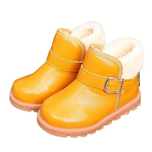 Kleinkinder Mädchen Jungen Baby Schnee Stiefel mingfa Winter Keep Warm dicker Erste Walking Schuhe für Kinder Kind, 1-6Jahren Age:2T gelb (Kind Stiefel Kleinkind)