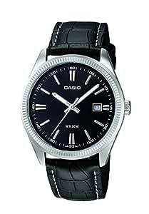 Casio - Vintage - MTP-1302L-1AVEF - Montre Homme - Quartz Analogique - Cadran Noir - Bracelet Cuir Noir
