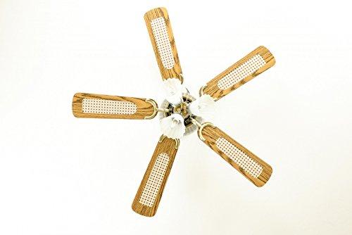 Low Profile Ceiling Fan Kisa Brass 105 Cm With 3 Lights