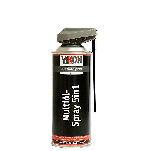 VIKON Multiöl 5in1 Spray 400 ml mit Spezial-Sprühkopf - Schmiermittel, Rostlöser, Kontaktspray, Korrosionsschutz & Reiniger in einem Produkt