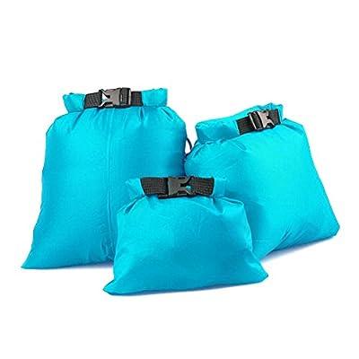 UEETEK 3pcs 1.5L+2.5L+3.5L Waterproof Dry Bag for Camping Boating Kayaking Rafting Fishing(Sky Blue) by UEETEK