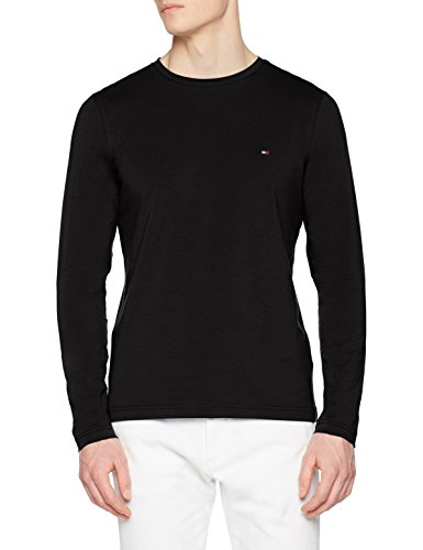Tommy Hilfiger Herren T-Shirt Stretch Long Sleeve Slim Fit Tee, Schwarz (Jet Black 083), XX-Large